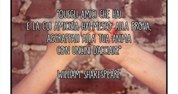 aforisma william shakespeare amicizia amici anima uncini