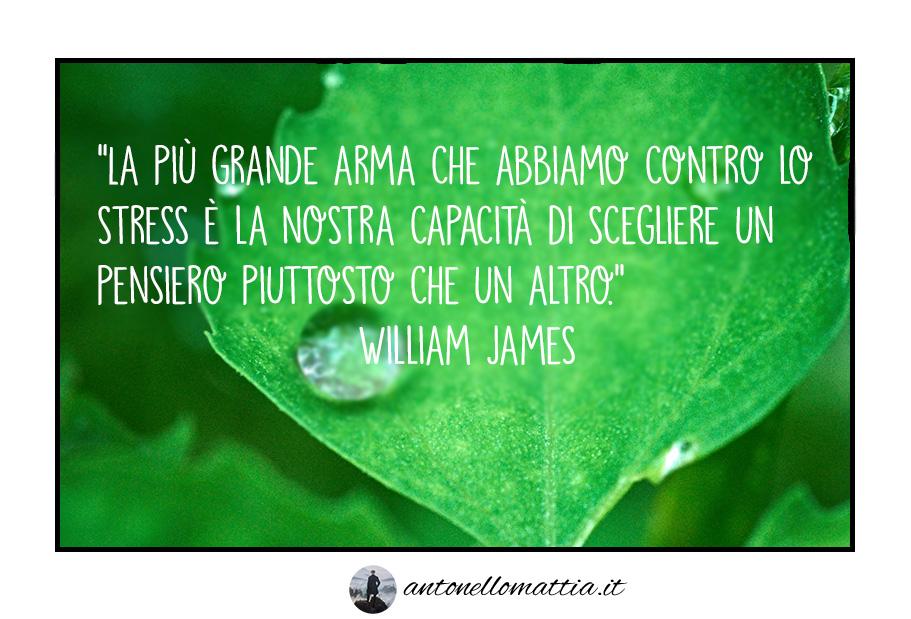 "Aforisma – ""Scegliere i pensieri"" – William James"